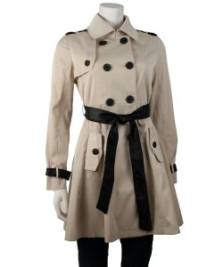 Ina Double Breasted Belted Trench Coat