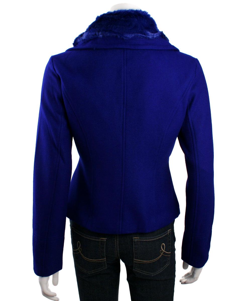 5627612be Lucy Paris Faux Fur Collar Moto Jacket