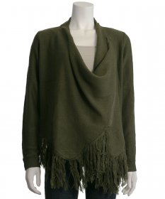 One The Land Cowl Neck Sweater with Fringe