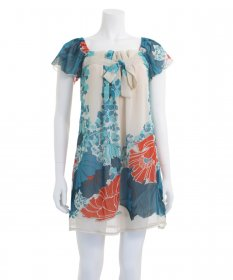 213 Industry Floral Print Dress - Blue